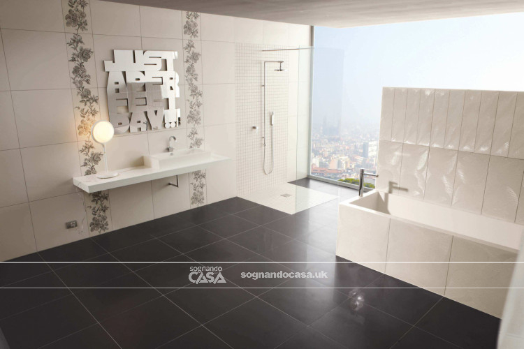 La Fabbrica Ceramiche 5th Avenue Black Chic Circle  1
